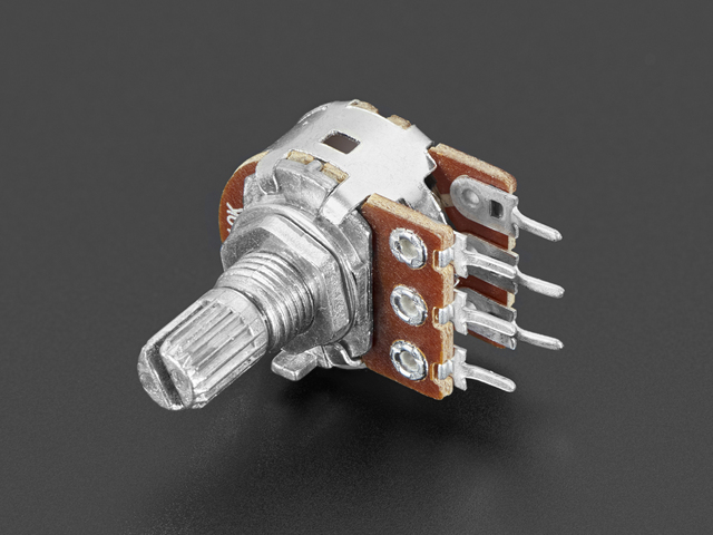 Panel Mount 10K Dual Log Potentiometer
