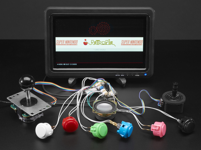 Adafruit Arcade Bonnet for Raspberry Pi with JST Connectors