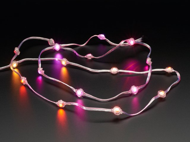 "Adafruit NeoPixel LED Dots Strand - 20 LED 4"" Pitch"