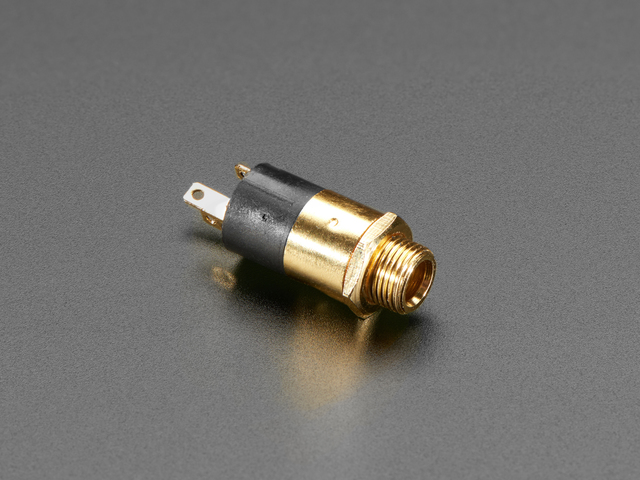 "Panel Mount 1/8"" / 3.5mm TRS Audio Jack Connector"