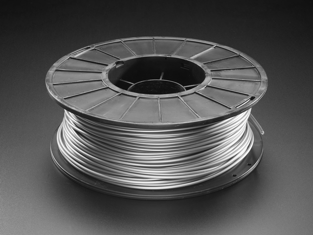 PLA Filament for 3D Printers - 2.85mm Diameter - Silver - 1 Kg