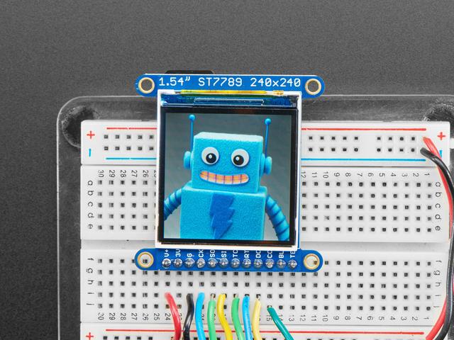 "Adafruit 1.54"" 240x240 Wide Angle TFT LCD Display with MicroSD"