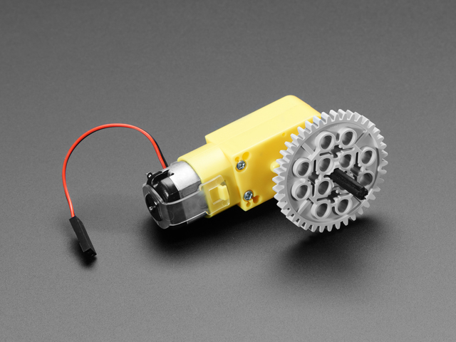 "DC Gearbox ""TT"" Motor to LEGO® compatible Cross Axle"