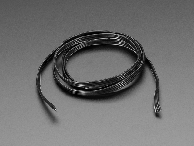 Silicone Cover Stranded-Core Ribbon Cable - 4 Wires 1 Meter Long