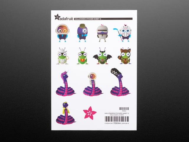 Adafruit #ElectronicHalloween Halloween Sticker Sheet Set 2