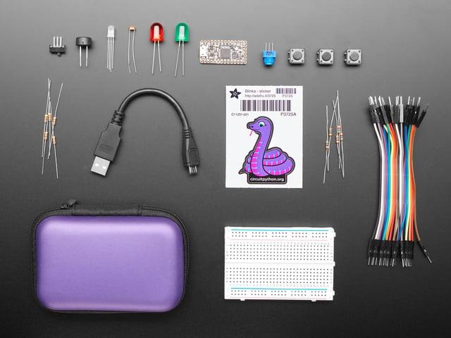 CircuitPython Starter Kit with Adafruit Itsy Bitsy M4