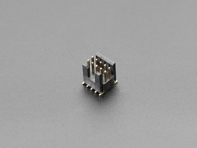 "Mini SWD 0.05"" Pitch Connector - 10 Pin SMT Box Header"