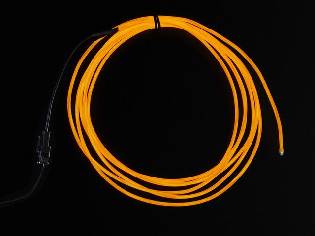 Orange Electroluminescent (EL) Wire - 2.5 meters