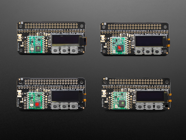 Adafruit Radio Bonnets with OLED - RFM69 or LoRa