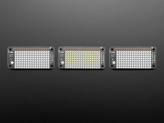 Adafruit CharliePlex LED Matrix Bonnets - 8x16 LEDs