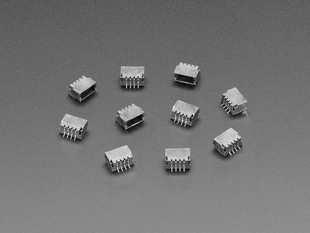JST SH 4-pin Right Angle Connector (10-pack)