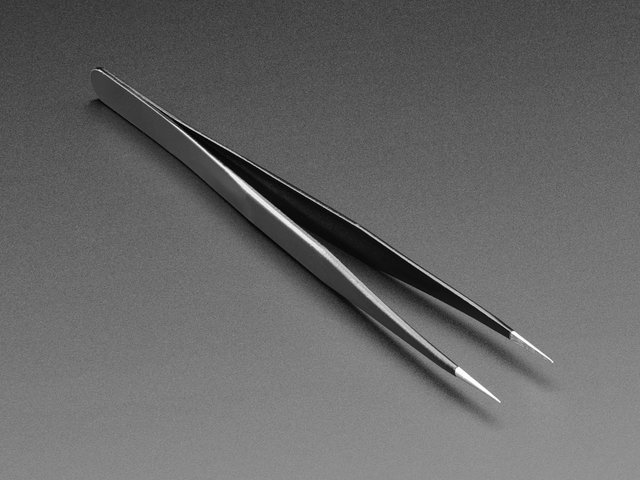Fine tip straight tweezers - ESD safe