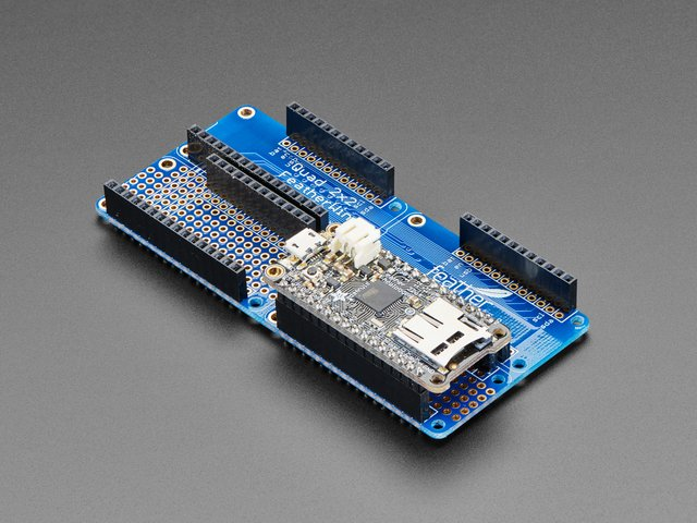 Adafruit Quad 2x2 FeatherWing Kit with Headers