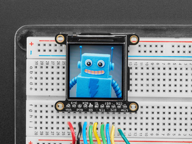 "Adafruit 1.3"" 240x240 Wide Angle TFT LCD Display with MicroSD"