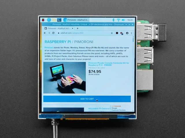 Pimoroni HyperPixel 4.0 Square - Hi-Res Display for Raspberry Pi