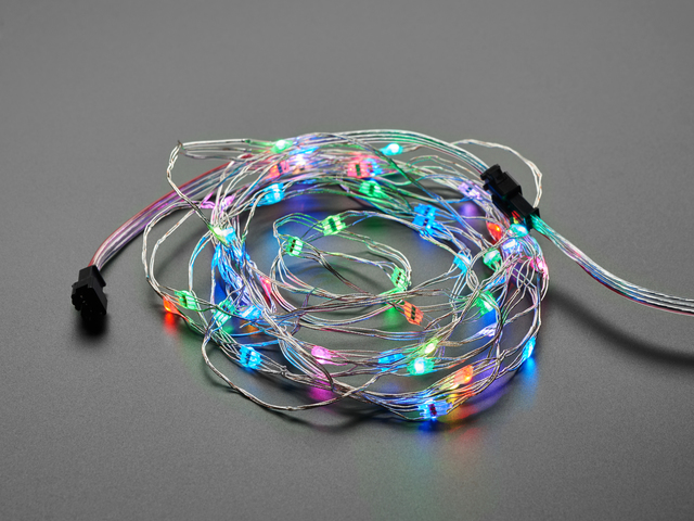 Adafruit Soft Flexible Wire NeoPixel Strand - 50 NeoPixels