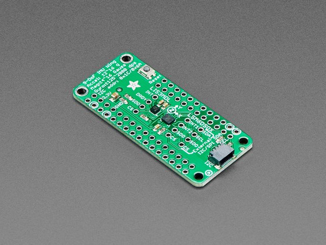 Adafruit LSM6DSOX + LIS3MDL FeatherWing - Precision 9-DoF IMU