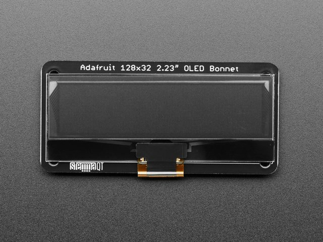"Adafruit 2.23"" Monochrome OLED Bonnet for Raspberry Pi"