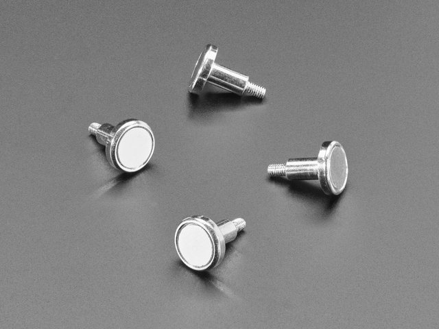 Mini Magnet Feet for RGB LED Matrices (Pack of 4)