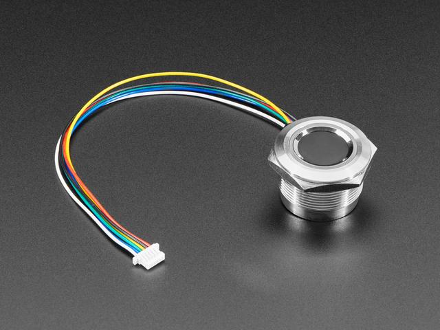 Rugged Panel Mount Fingerprint Sensor with Bi-Color LED Ring