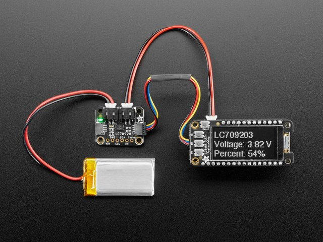 Adafruit LC709203F LiPoly / LiIon Fuel Gauge and Battery Monitor