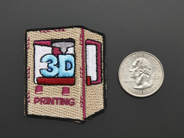 3D printing - Skill badge, iron-on patch