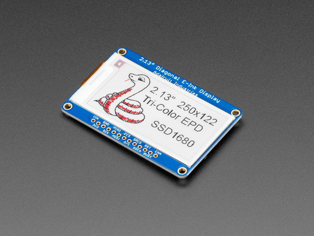 "Adafruit 2.13"" 250x122 Tri-Color eInk / ePaper Display with SRAM"