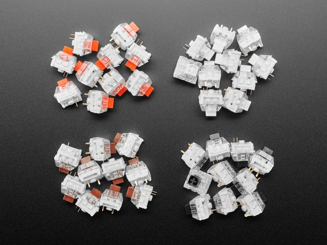 Kailh Mechanical Key Switches - 10 packs - Cherry MX Compatible