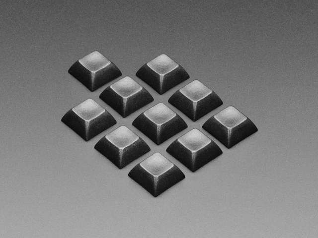 Black DSA Keycaps for MX Compatible Switches - 10 pack