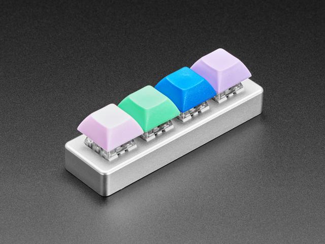 Four Key Silver Aluminum Keypad Shell Enclosure