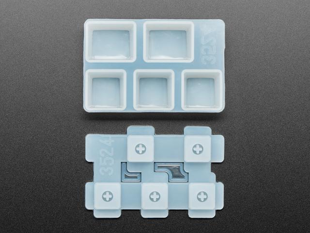 """3 x 1U and 2 x 1.25U """"Ctrl"""" Silicone Keycap Molds"""