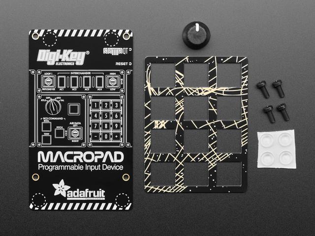 Adafruit MacroPad RP2040 Enclosure + Hardware Add-on Pack