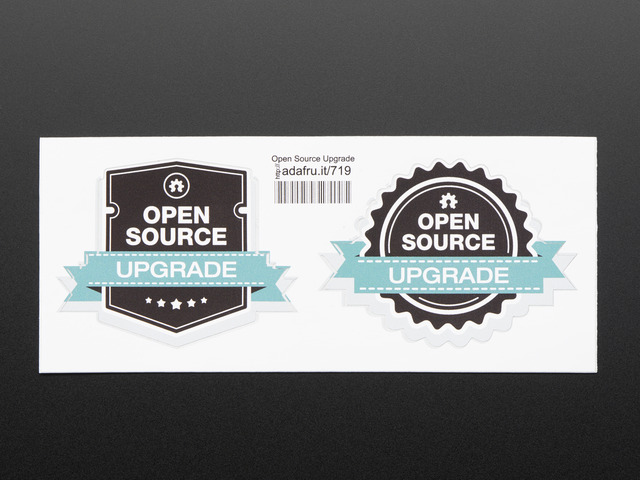 "Open source ""Upgrade"" stickers"