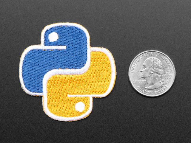 Python - Skill badge, iron-on patch