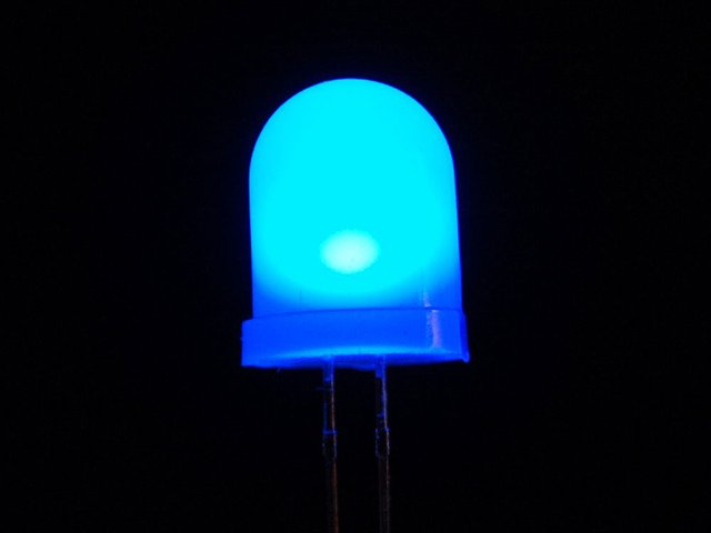 Diffused Blue 10mm LED (25 pack)