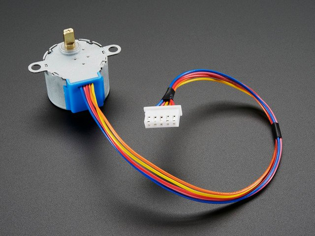 Small Reduction Stepper Motor - 12VDC 32-Step 1/64 Gearing