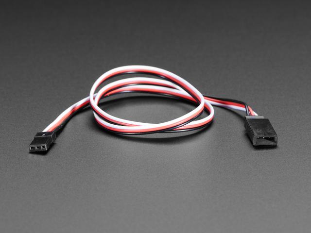 "Servo Extension Cable - 50cm / 19.5"" long"