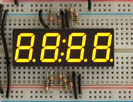 "Yellow 7-segment clock display - 0.56"" digit height"