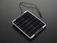 Epoxy-coated rectangular solar panel with DC power plug
