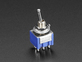 Mini Panel Mount DPDT Toggle Switch