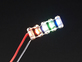 Five LED sequins light up in separate colors