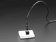 Vertical Breadboard-Friendly 3.5mm Mono Headphone Jack with audio cable plugged in