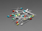 scattered pile of multi colored unlit LEDs