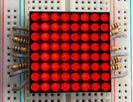 "Small 1.2"" 8x8 Ultra Bright Red LED Matrix"