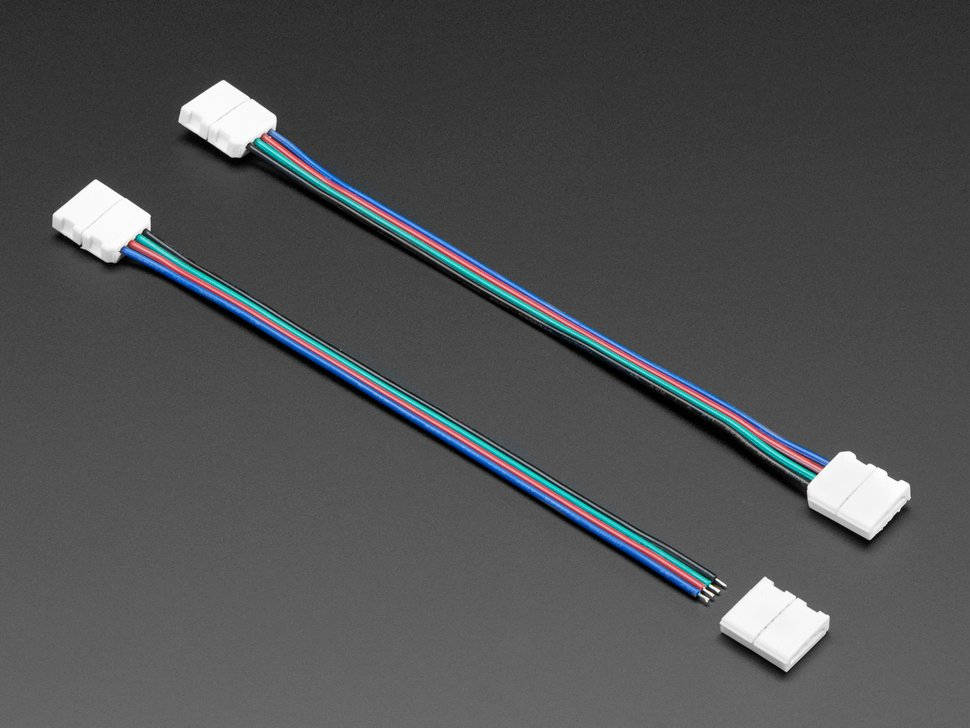Solderless DotStar and Analog RGB LED Strip Clip Sampler