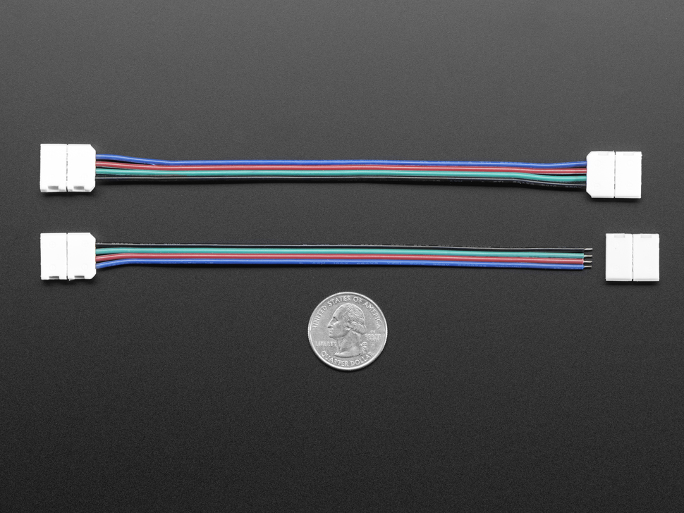 Solderless DotStar and Analog RGB LED Strip Clip Sampler