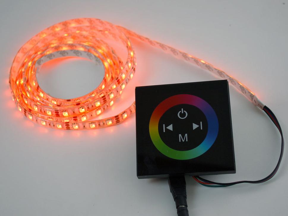 Touch Wheel Controller for Analog RGB LED Strips