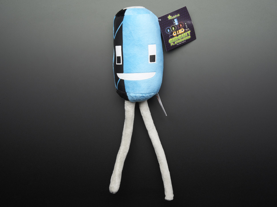 Cappy the Capacitor - Circuit Playground Plushie