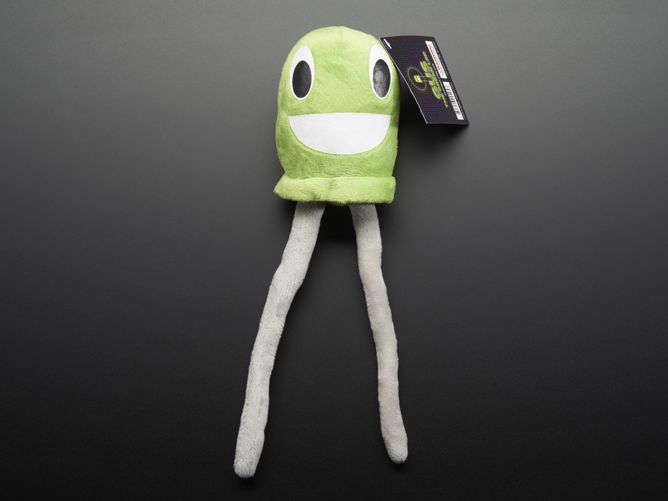 Gus the Green LED - Circuit Playground Plushie