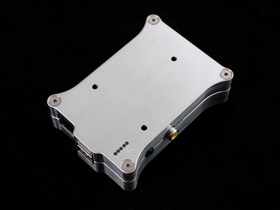 Pi Holder milled aluminum case for Raspberry Pi Model B no logo